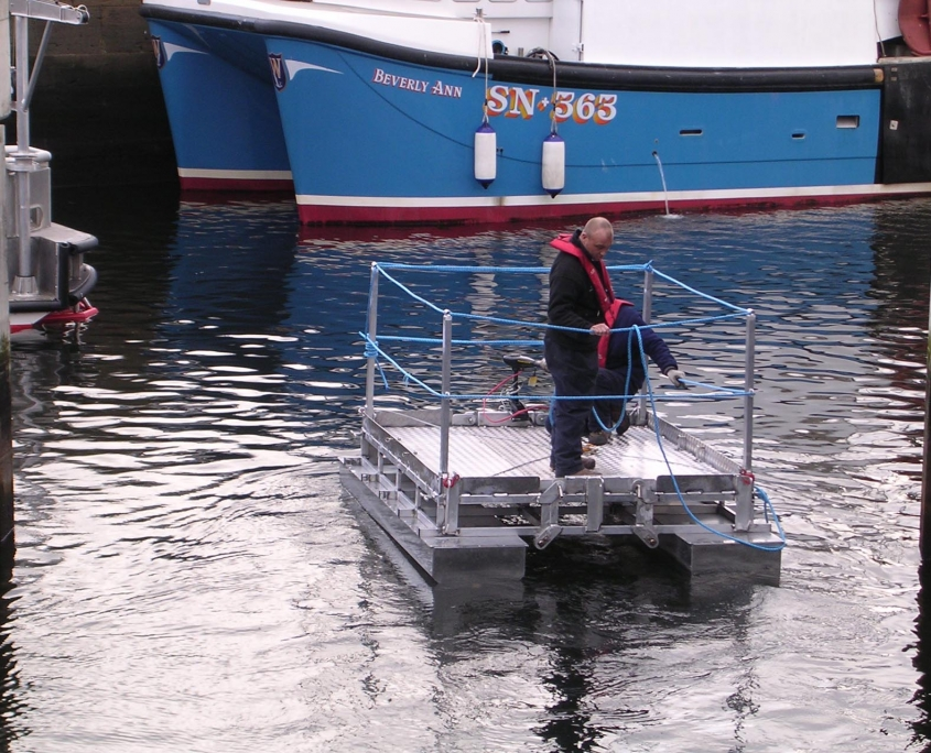 Bespoke Marine Access Gangways Paint Raft 1