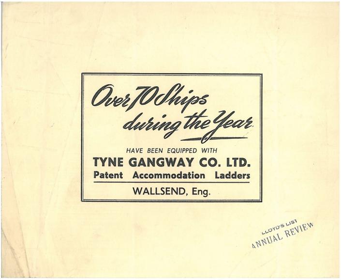 Tyne Gangway Historical Advert 3
