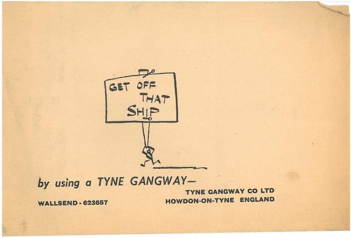 Tyne Gangway Historical Advert