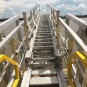 3off Hydraulically Deployed Telescopic Gangways|3off Hydraulically Deployed Telescopic Gangways installed