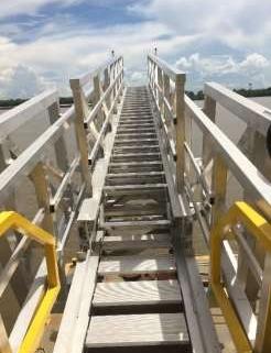 3off Hydraulically Deployed Telescopic Gangways|3off Hydraulically Deployed Telescopic Gangways installed