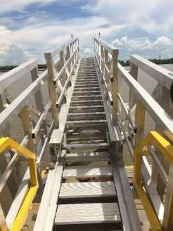 3off Hydraulically Deployed Telescopic Gangways 3off Hydraulically Deployed Telescopic Gangways installed