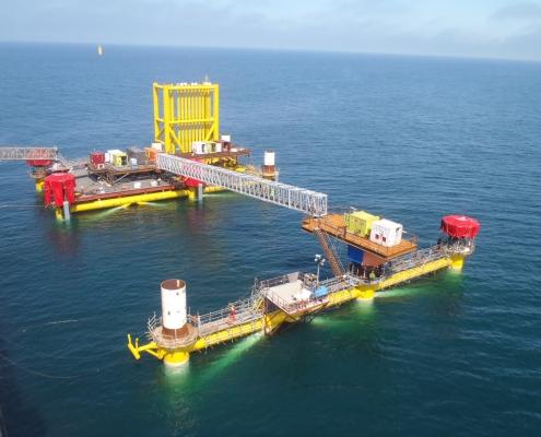 50mtr Aluminium offshore bridge installed