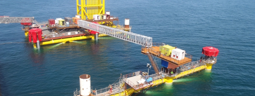 50mtr Aluminium offshore bridge installed