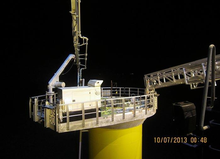 Wind Farm Access At Night