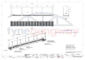 6m Shala Gangway With Folding Handrails